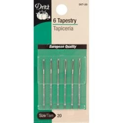 Size 18 and 22 - Dritz Tapestry Hand Needles 6/Pkg